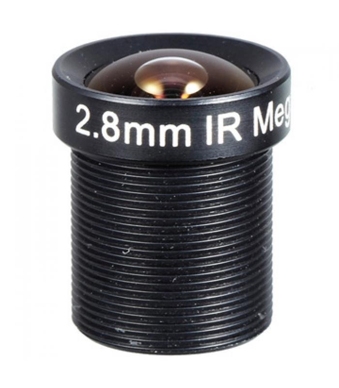 """1/3"""" Mono-focal Lēca 2.8mm. IR CUT M12CUT28"""