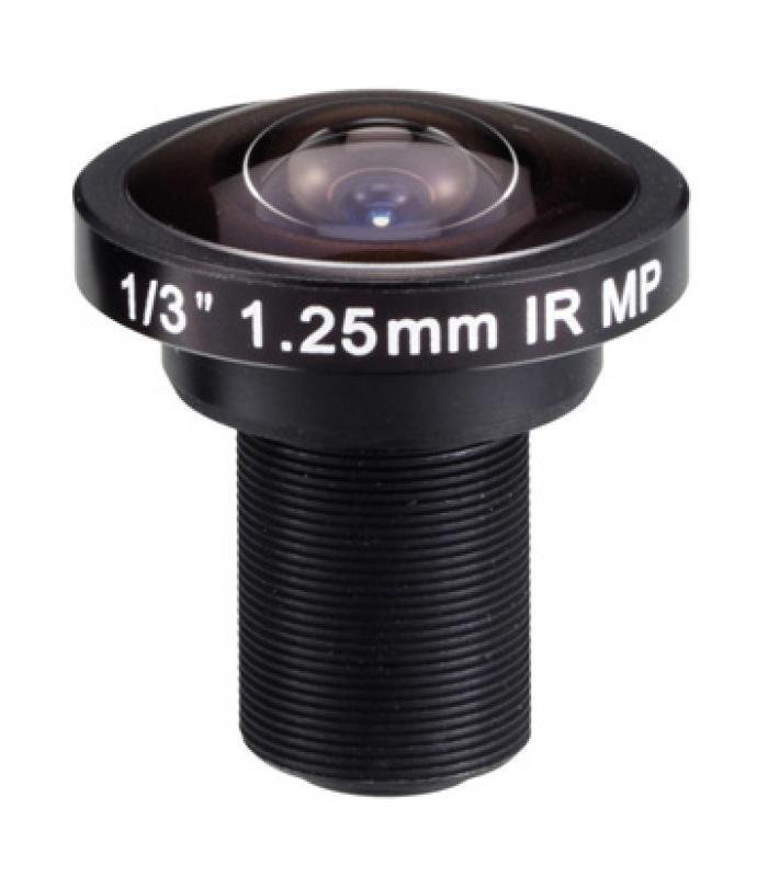 """1/3"""" Fisheye Lēca 1,25mm MP IR M12IR125F"""