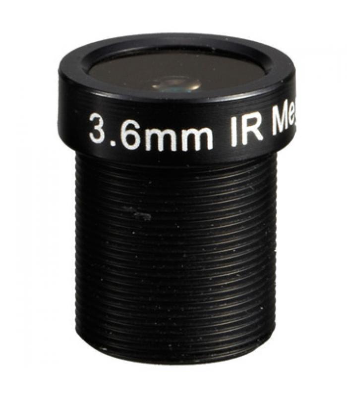 "1/3"" Mono-focal Lēca 3.6mm. IR M12IR36"