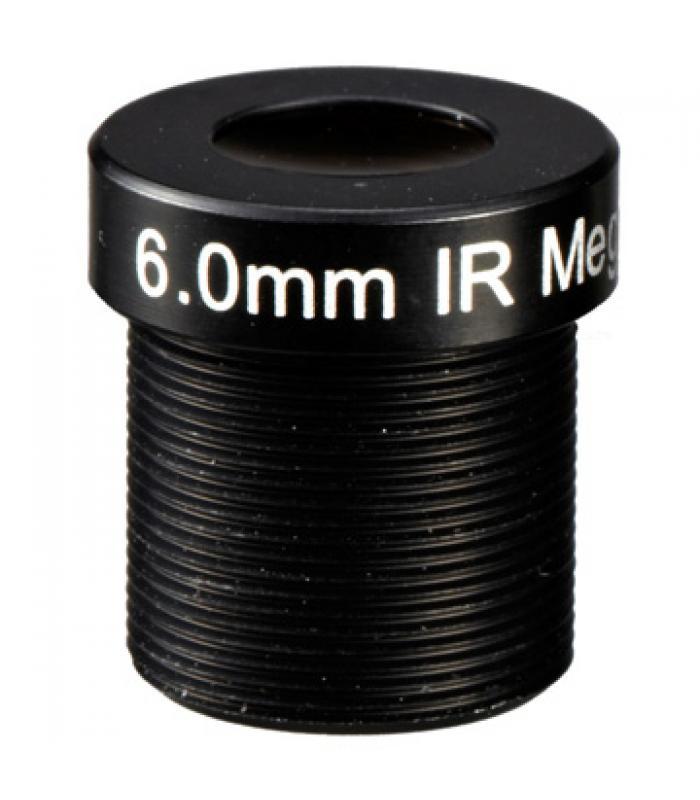 "1/3"" Mono-focal Lēca 6mm. IR M12IR6"