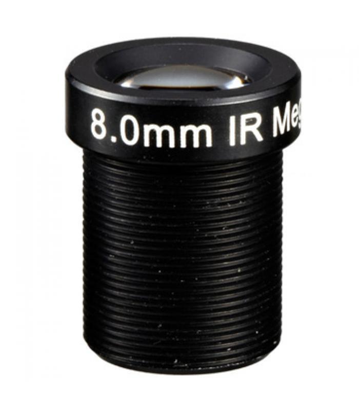 "1/3"" Mono-focal Lēca 8mm. IR M12IR8"